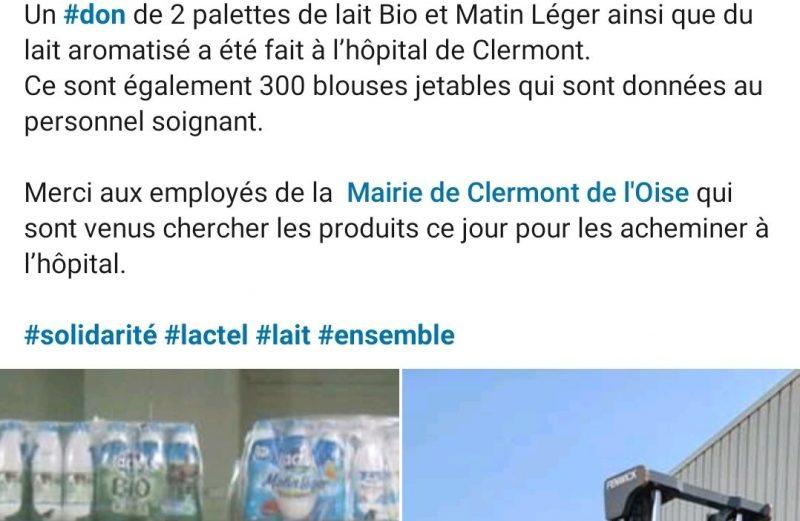 Soutien de la société laitière de Clermont – Lactel France